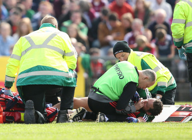 The 30-year-old suffered the injury against Galway earlier this month.