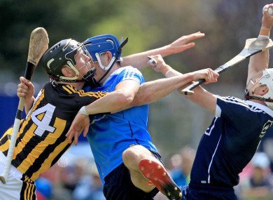 Kilkenny's Walter Walsh with Eoghan O'Connell and Alan Nolan of Dublin.