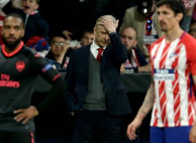 Europa League heartbreak: Arsene Wenger.