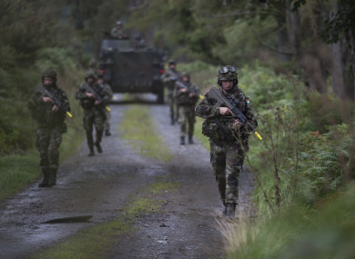 Members of the Defence Forces during a training exercise in Ireland last year.