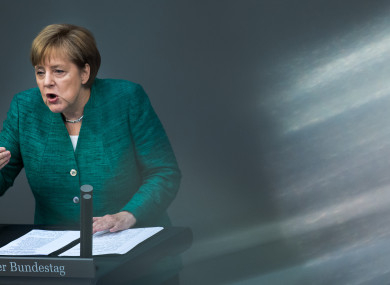 German Chancellor Angela Merkel, 28 June 2018.