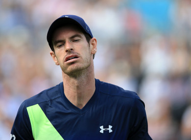 Murray was beaten by Nick Kyrgios at Queens yesterday.