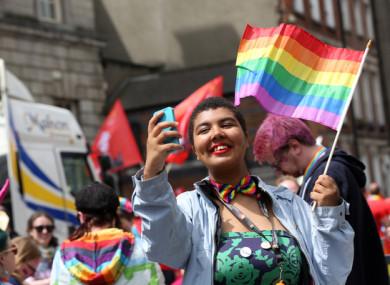 Eboni Burke (17) from Saggart at the Dunlin Pride Parade 2017.