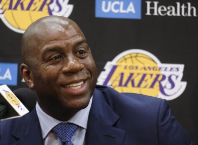 Conundrum: Lakers boss Magic Johnson.