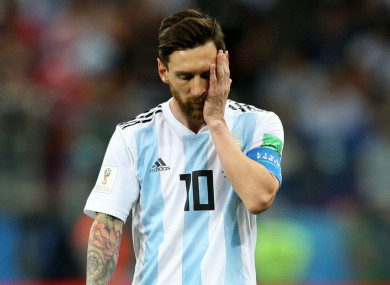 Lionel Messi has had a difficult time at the World Cup so far,