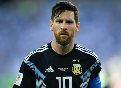 Messi missed a penalty as Argentina were held 1-1 by Iceland yesterday.