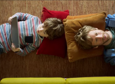 Vodafone Ireland's TV advert 'Family Firsts'.