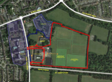 The proposed site.