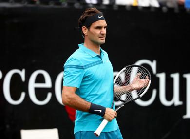 Federer was back in action earlier.