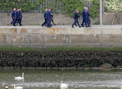 Garda search team at the scene in Bray.