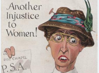 Anti suffragette postcard circa 1913