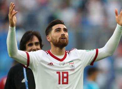 Iran's Alireza Jahanbakhsh at the World Cup