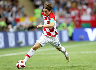 44d4aa367 Consolation for Luka Modric as he wins World Cup Golden Ball · The42