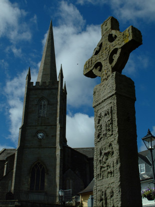 High cross in Clone, Monaghan