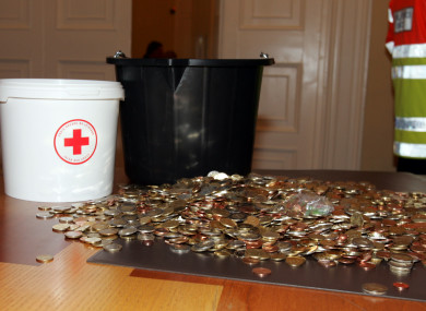 Money donated by the public to the Irish Red Cross.