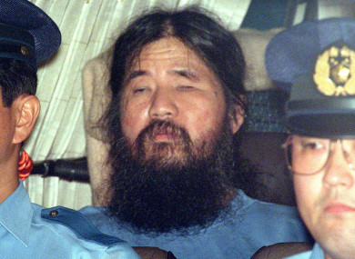 Shoko Asahara, following his arrest in 1995.