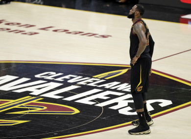 LeBron James during Game 4 of this year's NBA Finals.