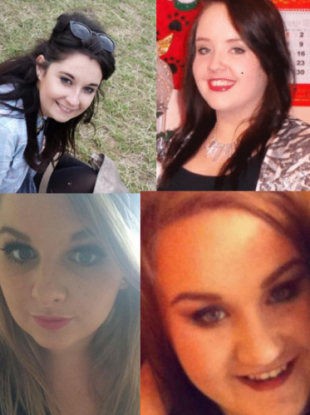 Clockwise from top left: Niamh Doyle, Gemma Nolan, Aisling Middleton and Chermaine Carroll.
