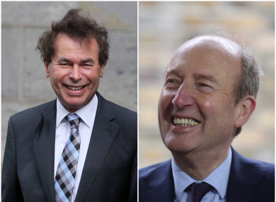 Former justice minister Alan Shatter and Minister for Transport Shane Ross.