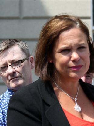 Sinn Féin's David Cullinane and party leader Mary Lou McDonald