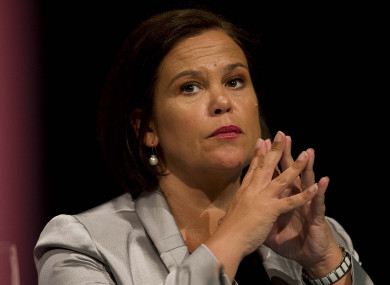 Sinn Féin leader Mary Lou McDonald says they are mulling over a mixture of names for possible presidential candidates.