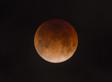 January's blood moon viewed from Idaho in the United States.
