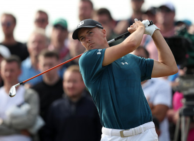 574893463ea Champion Spieth in three-way tie for the lead as Woods and McIlroy remain  in Open contention