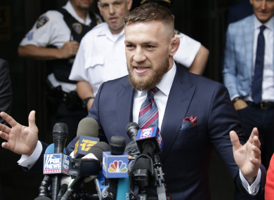 McGregor speaking outside court today.