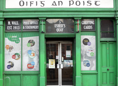 A post office on Ushers Quay, Dublin city. No post offices in Dublin are set to close.