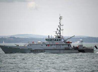 File photo - HMC Vigilant, a UK Border Force cutter