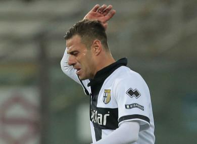 Parma striker Emanuele Calaio