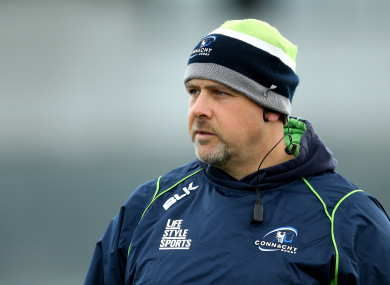 McFarland during his time as Connacht's forwards coach.