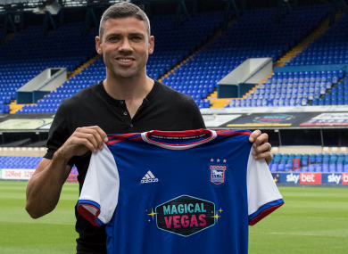 Walters pictured at Portman Road this afternoon.