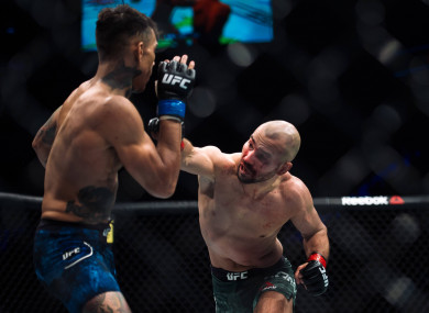 Artem Lobov (right) hasn't fought since his defeat to Andre Fili in October 2017.