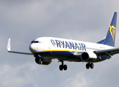 File photo of a Ryanair plane.