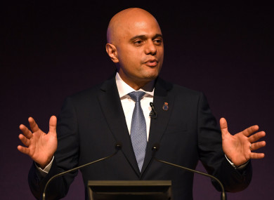 UK Home Secretary Sajid Javid