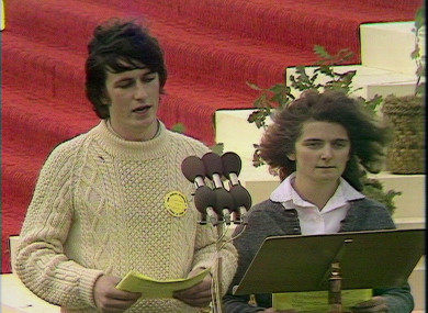 Michael McLoughlin and Anna Caleb singing 'I am the Bread of Life' during the last papal visit in 1979