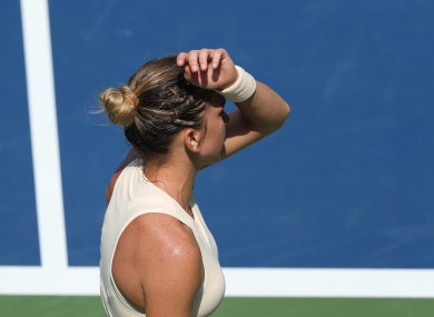 Simona Halep crashed out of the US Open today.