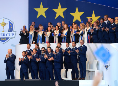 Team Europe at the opening ceremony.