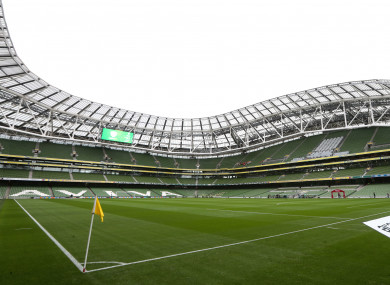 A general view of the Aviva Stadium.