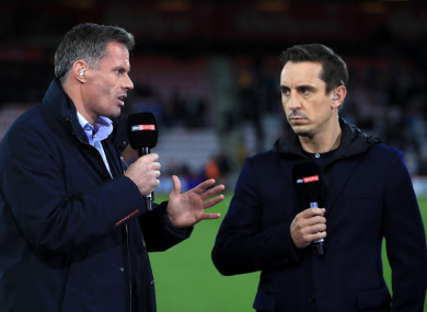 Jamie Carragher and Gary Neville have come under fire for their comments at times.