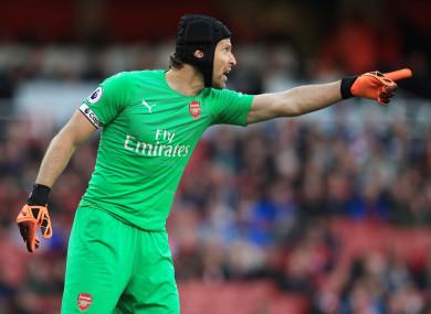 Arsenal goalkeeper, Petr Cech.