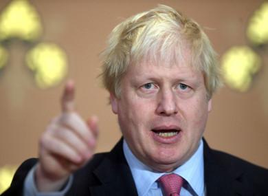 Tory MP Boris Johnson