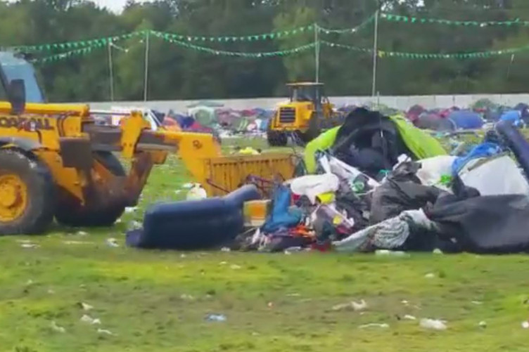 Thousands Of Tents Left Behind At Electric Picnic Campsite Cleared
