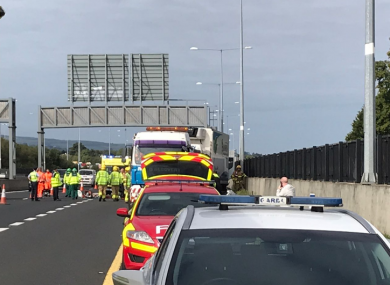 The scene of the incident on Dublin's M50.
