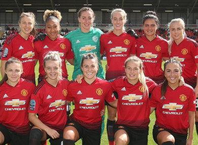 Manchester United Women were formed earlier this year.