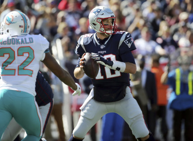 Tom Brady in action for the Patriots on Sunday.