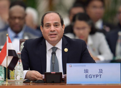 Egyptian President Abdel-Fattah al-Sisi attending the 2018 Beijing Summit of the Forum on China-Africa Cooperation earlier this month.