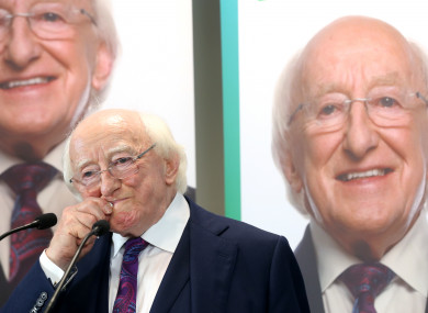 Michael D Higgins launching his re-election campaign on Wednesday.