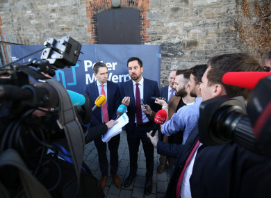 Minister for Housing, Planning and Local Government Eoghan Murphy TD and the Minister for Health Simon Harris TD at the launch of the National Implementation Plan for Housing First in Dublin